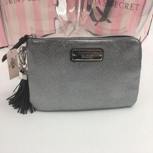 Victoria's Secret Silver Clutch Handbag Wristlet